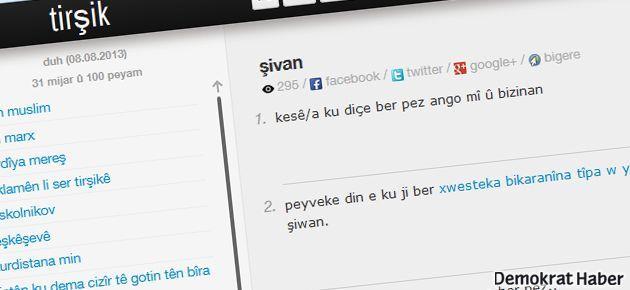 Kürtçe 'Ekşisözlük' Tirşik yayında
