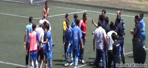 Kütahya'da futbolcu çocuklara biber gazı