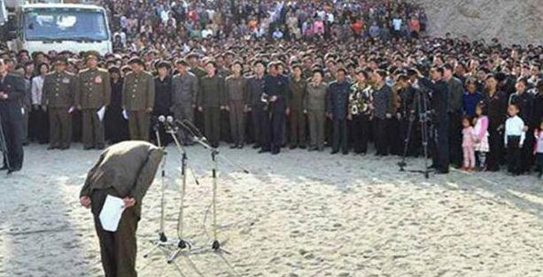 Kuzey Kore yöneticisi böyle özür diledi