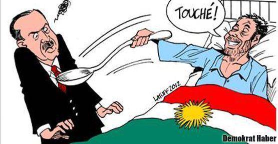 Latuff sonlandırılan açlık grevlerini de çizdi