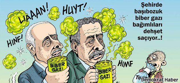 Leman 'biber gazı bağımlısı' Vali ve Bakan'ı kapağa taşıdı