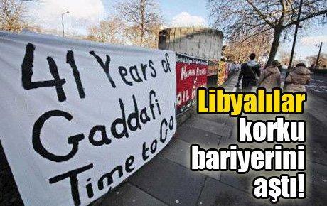 Libyalılar korku bariyerini aştı