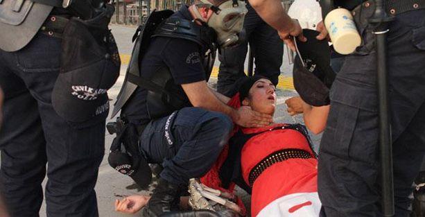 Lice protestolarına polis müdahalesi