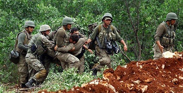 Lice'de bir asker yaralandı