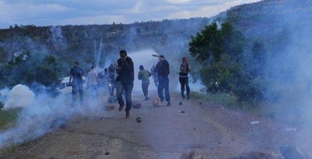 Lice'deki karakol eylemine jandarma-polis saldırısı