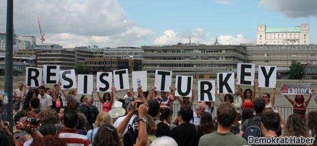 Londra'da 'Gezi' eylemi