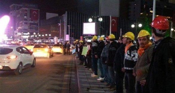 Maden faciası sonrası ilk eylem Ankara'da