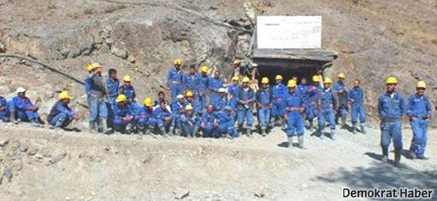 Maden ocağı işçilerinden iş bırakma eylemi