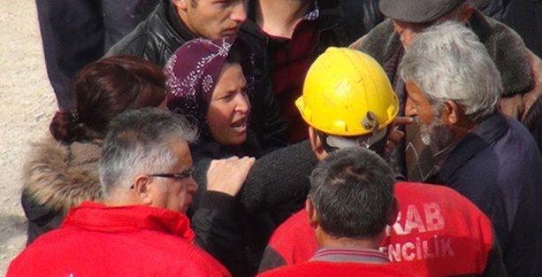 Madenci yakınından bakanlara tepki