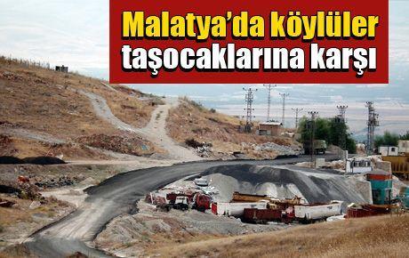 Malatya'da köylüler taşocaklarına karşı