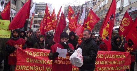 Maltepe Belediyesi'nden atılan işçiler Ankara'da