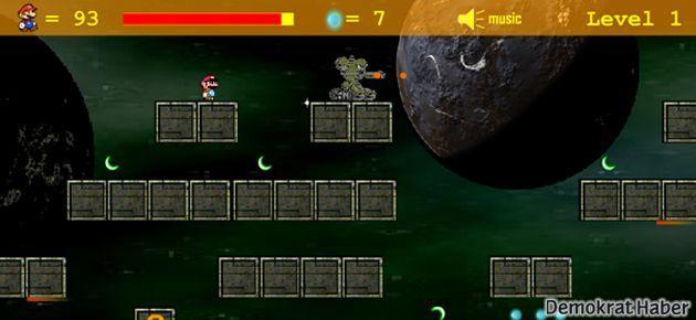 Mario uzayda