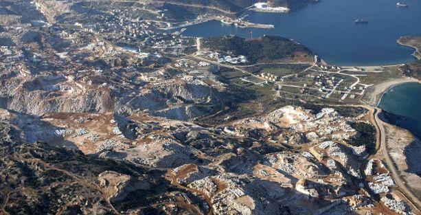 Marmara adasında doğal denge böyle korunmuş: 52 adet mermer işletmesi!