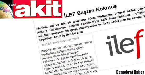 Marmara İletişim'den Akit'e kınama, İLEF'e destek