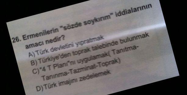 Marmara Üniversitesi'nde 'sözde soykırım' sorusu
