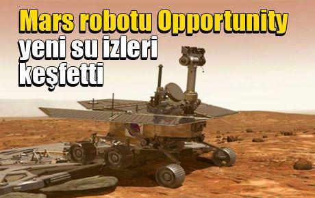 Mars robotu Opportunity yeni su izleri keşfetti