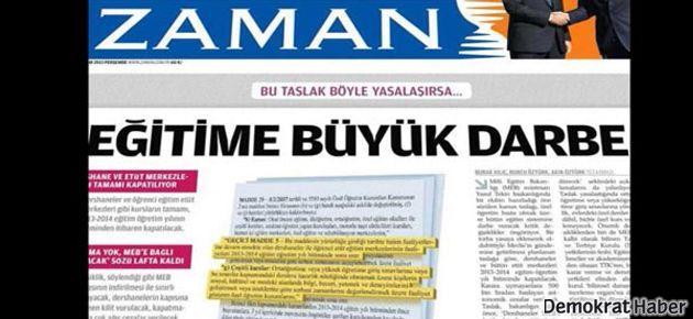 MEB'den Zaman Gazetesi'ne sert yanıt