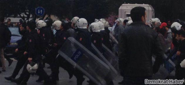 Mecidiyeköy'de BDP yürüyüşüne polis müdahalesi