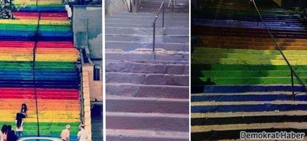 Merdivenler yeniden rengarenk