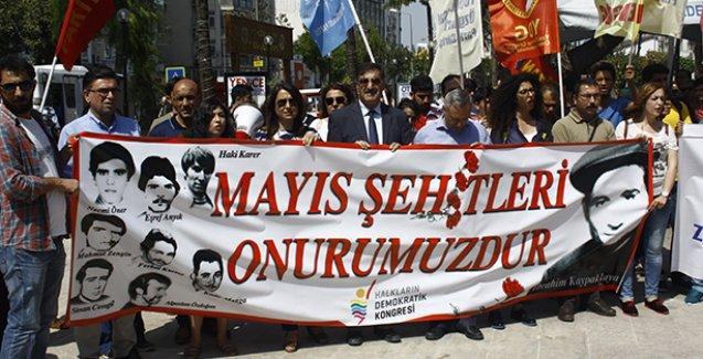 Mersin'de HDK bileşenleri Mayıs ayında hayatını kaybeden devrimcileri andı