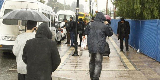 Mersin'de yolcular da mağdur