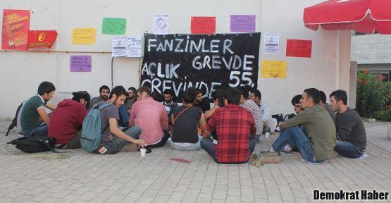 Mersin Üniversitesi'nde süresiz dönüşümlü açlık grevi