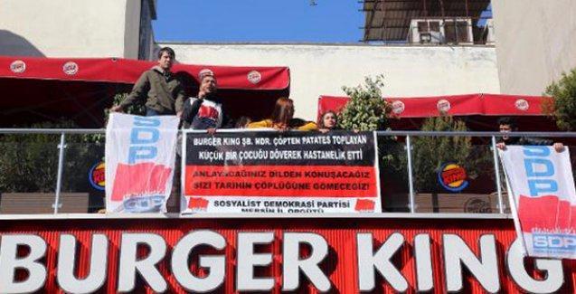 Mersin'de Burger King şubesinde SDP eylemi