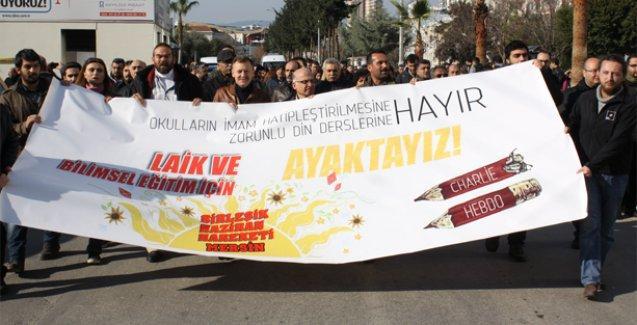 Mersin'de 'Laik ve bilimsel eğitim için' yürüdüler