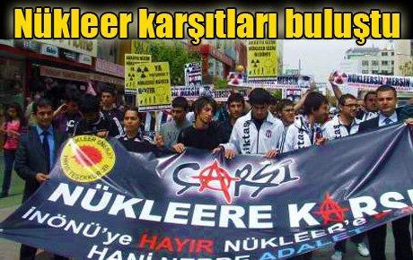 Mersin'de nükleer karşıtları buluştu