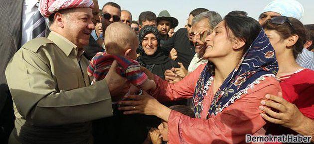 Mesud Barzani mülteci kamplarında