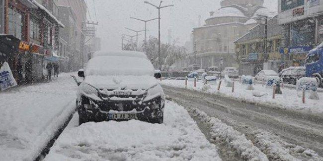 Meteoroloji'den 5 il için yoğun kar yağışı uyarısı