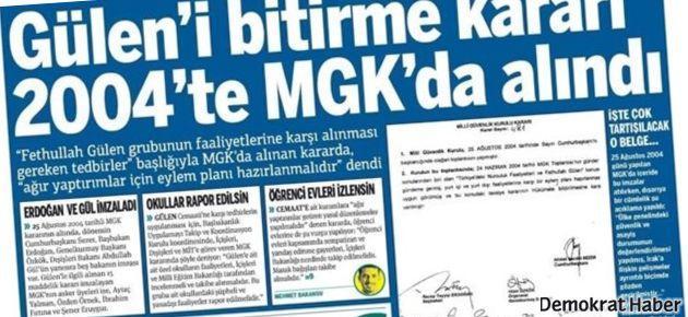 MGK kararında Erdoğan ve Gül imzası itiraf edildi