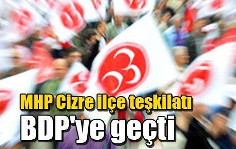 MHP Cizre ilçe teşkilatı BDP'ye geçti