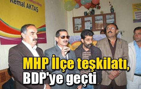 MHP İlçe teşkilatı, BDP'ye geçti
