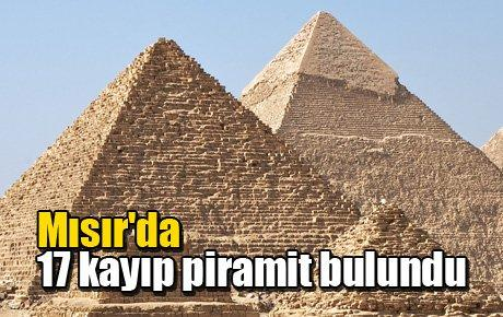 Mısır'da 17 kayıp piramit bulundu
