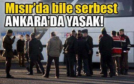 Mısır'da bile serbest, Ankara'da yasak!