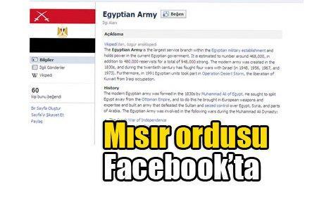 Mısır'da 'sanal devrim'in gücünü gören ordu Facebook'a girdi