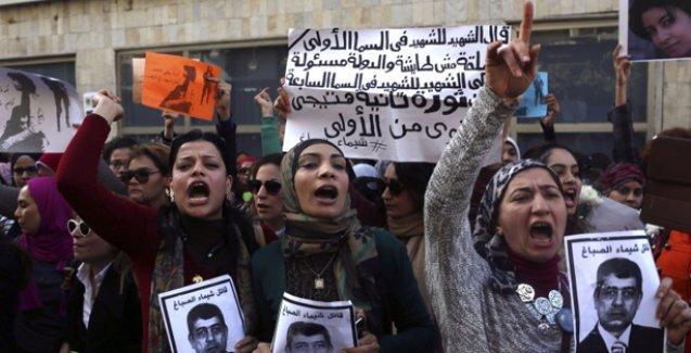 Mısırlı kadınlar Şeyma El Sabbah için ayaktaydı