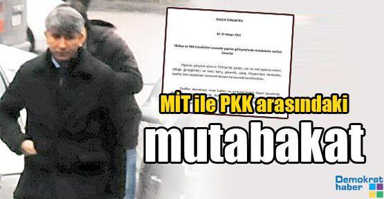 MİT ile PKK arasındaki mutabakat