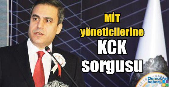 MİT yöneticilerine KCK sorgusu