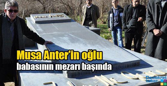 Musa Anter'in oğlu babasının mezarı başındaydı