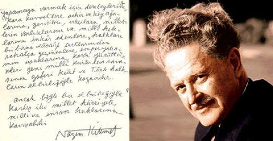 Nazım Hikmet: Türk politikacıları Kürt milletinin milli varlığını inkarda ısrar ediyor