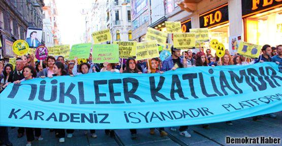 Nükleer katliamdır, Karadeniz isyandadır!