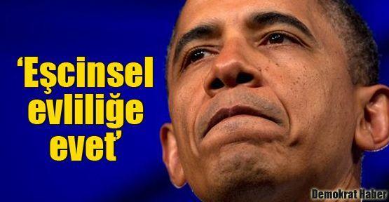 Obama: Eşcinsel evliliğe evet