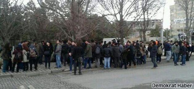 ODTÜ'de polis ablukası