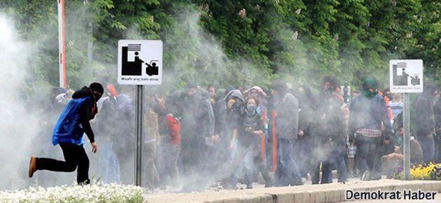 ODTÜ'de polis öğrenciyi hedef alarak gaz bombasıyla vurdu!