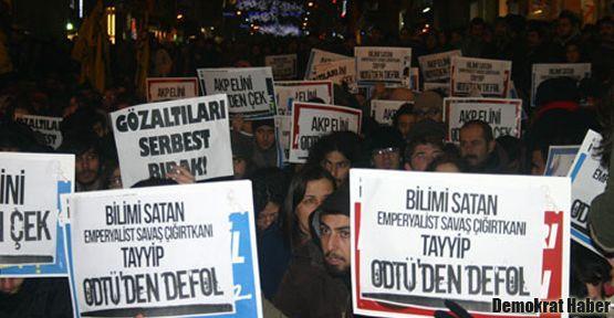 ODTÜ'deki polis şiddeti Taksim'de protesto edildi