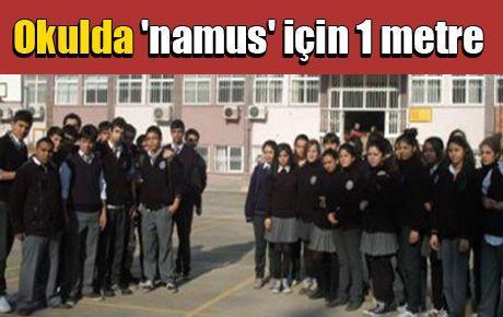 Okulda 'namus' için 1 metre mesafe