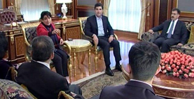 Önder ve Zana, Öcalan'ın mektubunu Neçirvan Barzani'ye verdi