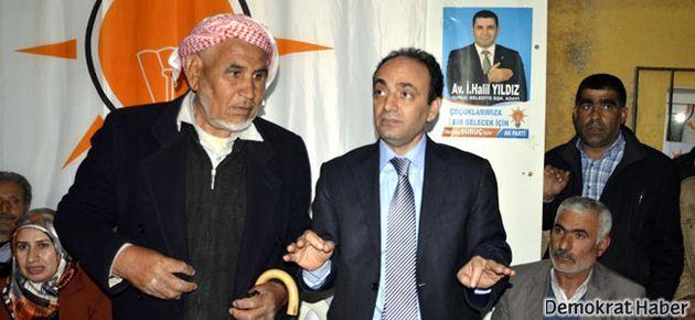 Osman Baydemir Ak Parti seçim bürosunda